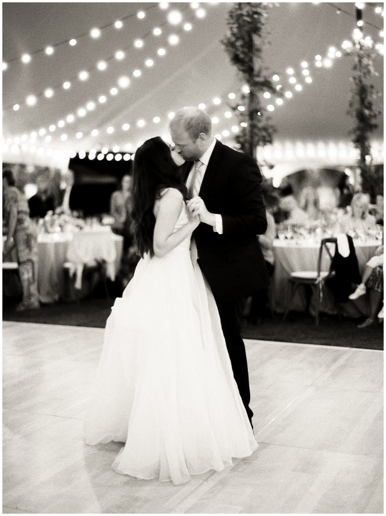 First dance between husband and wife during reception